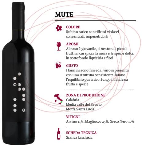 Vino Savuto Rosso Classico DOC Mute, Cantina  Le Moire, 750 ml