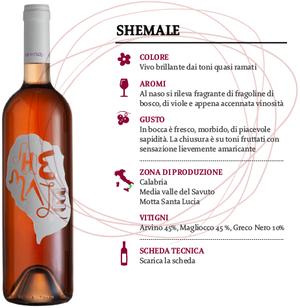 Vino Savuto Rosato DOC Shemale, Cantina Le Moire, 750 ml
