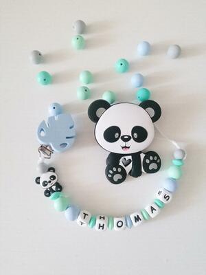 Monstera e panda massaggiagengive