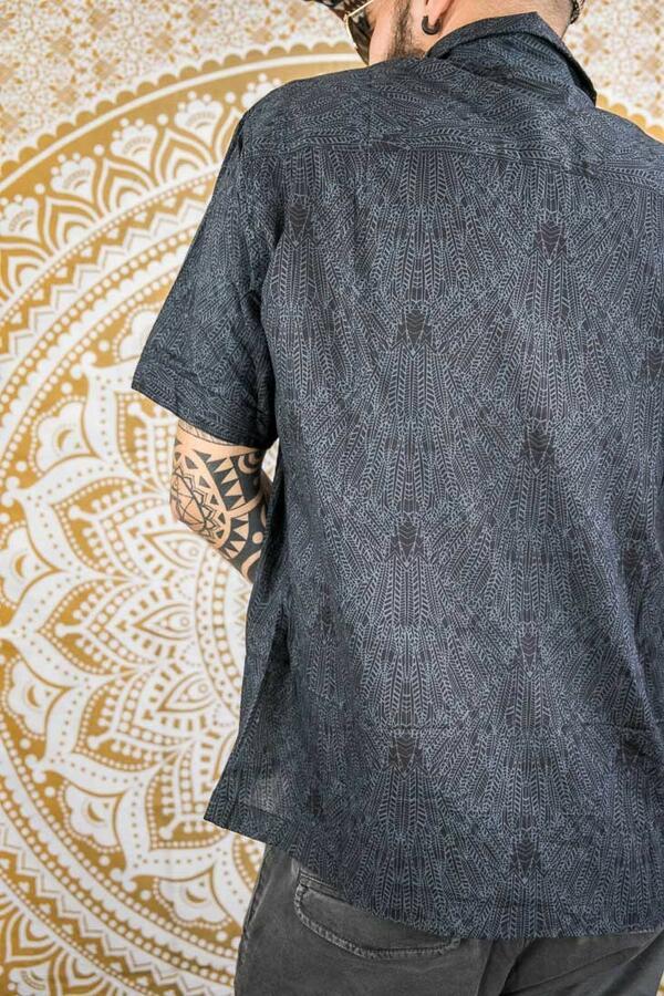 Camicia uomo Budhil manica corta - grigio scuro