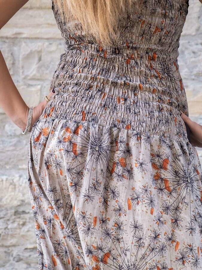 Vestito tuta donna Urvasi cavallo basso - grigio arancione