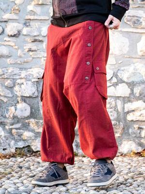 Pantalone uomo lungo Praney cavallo basso - rosso