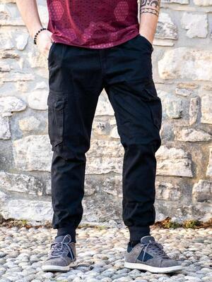 Pantalone jeans uomo lungo Jayant - nero