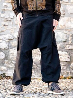 Pantalone uomo lungo Praney cavallo basso - nero