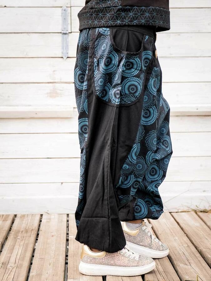 Pantalone donna aladino Maya - nero blu