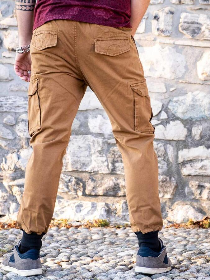 Pantalone jeans uomo lungo Jayant - senape