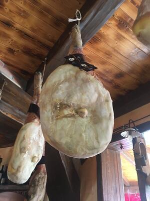 Prosciutto Crudo Suino Nero d'Aspromonte 18/24 mesi, Sapori Antichi, Salamaria Calabra, 1 kg