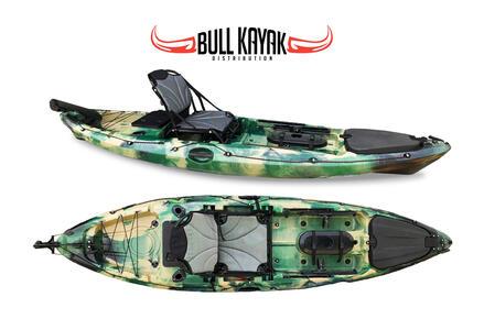 SKYLON FISHING BULL KAYAK - CANOA 312 CM + 3 GAVONI + TIMONE + 2 PORTACANNE + PAGAIA + SEGGIOLINO IN ALLUMINIO