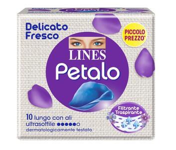 Lines Assorbenti Petalo Ultra Lungo Ali, 10 Pezzi