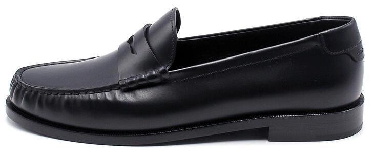 Mocassino Saint Laurent in pelle nera lucido da uomo MAGNUM/NERO LUCIDO 630474 1VUVV