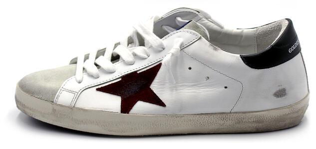 Sneakers Golden Goose Super star classic with list white Bianca e bordeaux misura 43 GMF00101f00033880303