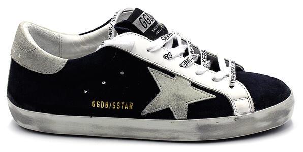Sneakers Golden Goose Super Star classic with list night blue/ice/white da uomo GMF00101/F00034150519