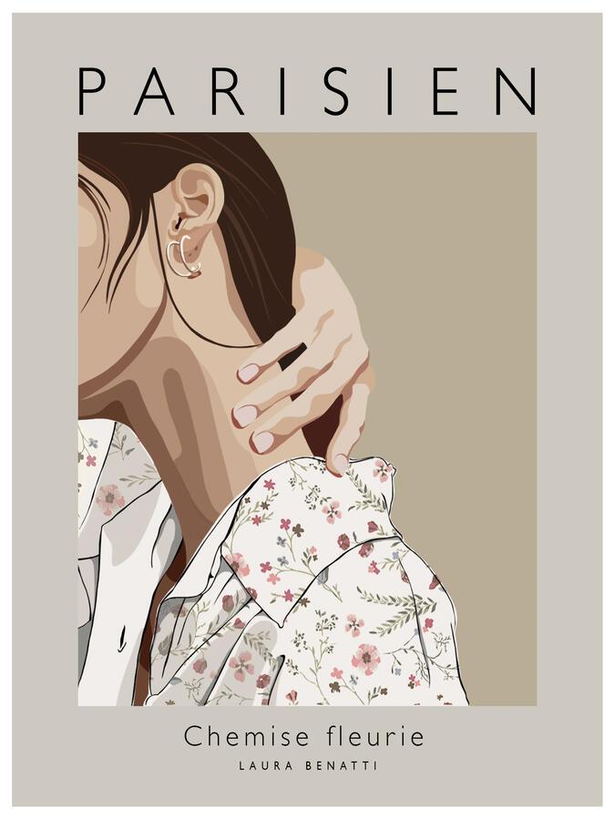 """Poster """"Parisien"""" a colori 30x40cm"""