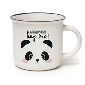"""CUP-PUCCINO TAZZA MUG PANDA """"EVERYBODY NEEDS SOMEBODY TO HUG ME !"""" LEGAMI"""