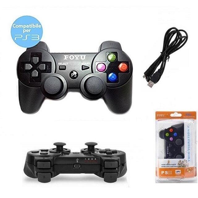 Joystick compatibile PS3 e PC con filo USB wired + vibrazione