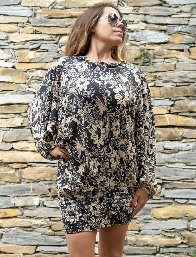 2 in 1 Ambu: Pantalone e Vestito donna  - nero oro