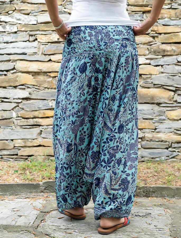 2 in 1 Ambu: Pantalone e Vestito donna  - turchese blu oro