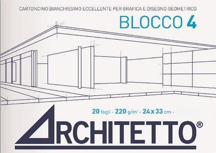 ALBUM DA DISEGNO BLOCCO 4 ARCHITETTO LISCIO SQUADRATO 33x48