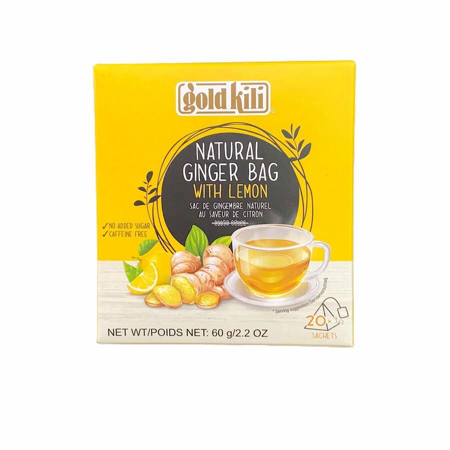 GOLD KILI GINGER NATURAL LEMON 60G (20X3G)