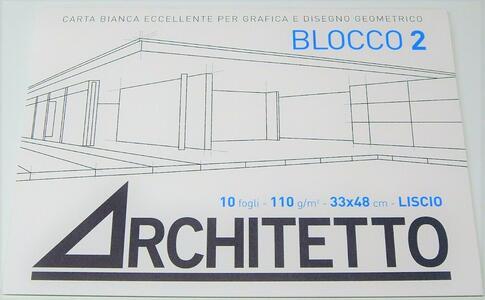ALBUM DA DISEGNO BLOCCO 2 ARCHITETTO LISCIO 33x48