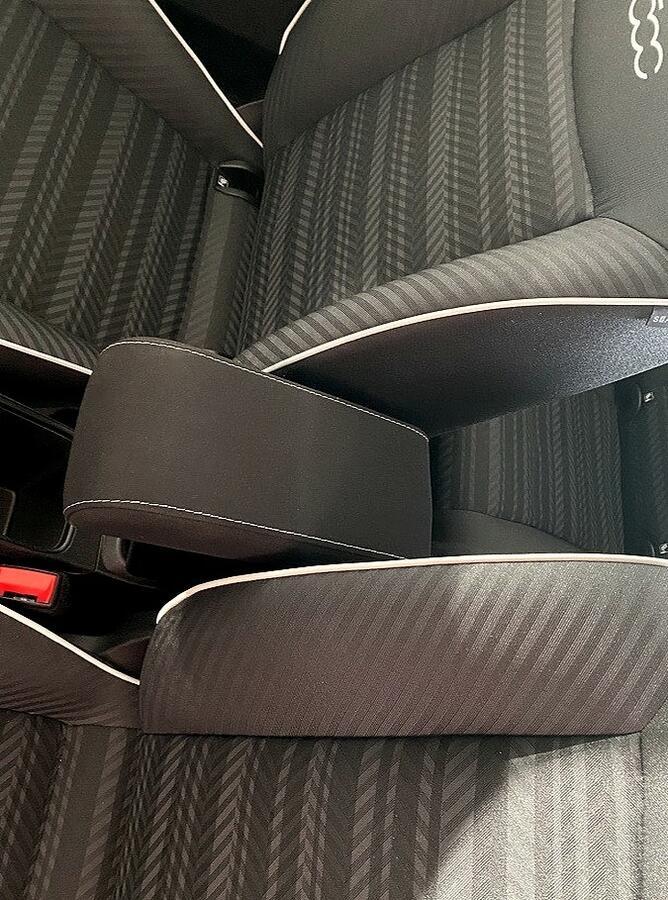 Bracciolo regolabile con portaoggetti per Fiat 500E (elettrica)