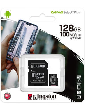 FLASHCARD MICROSD 120 GB CANVAS SELECT PLUS 100MB/S KINGSTON