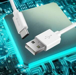 CAVO USB TIPO-C 5V 2A BIANCO 1 METRO DEVIA