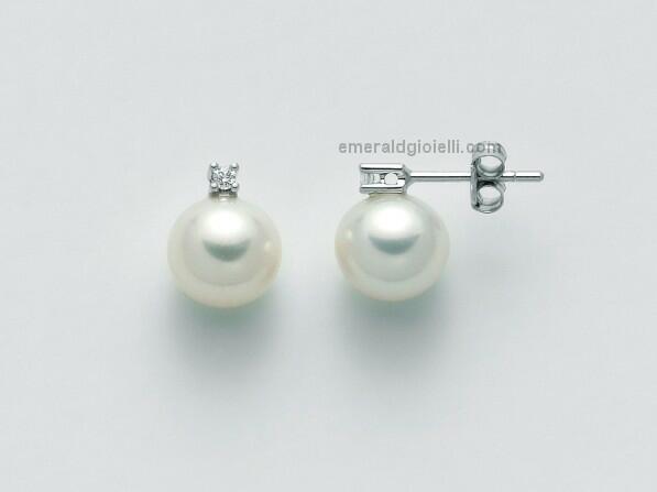 PER2301 Orecchini con perle e diamanti Miluna -