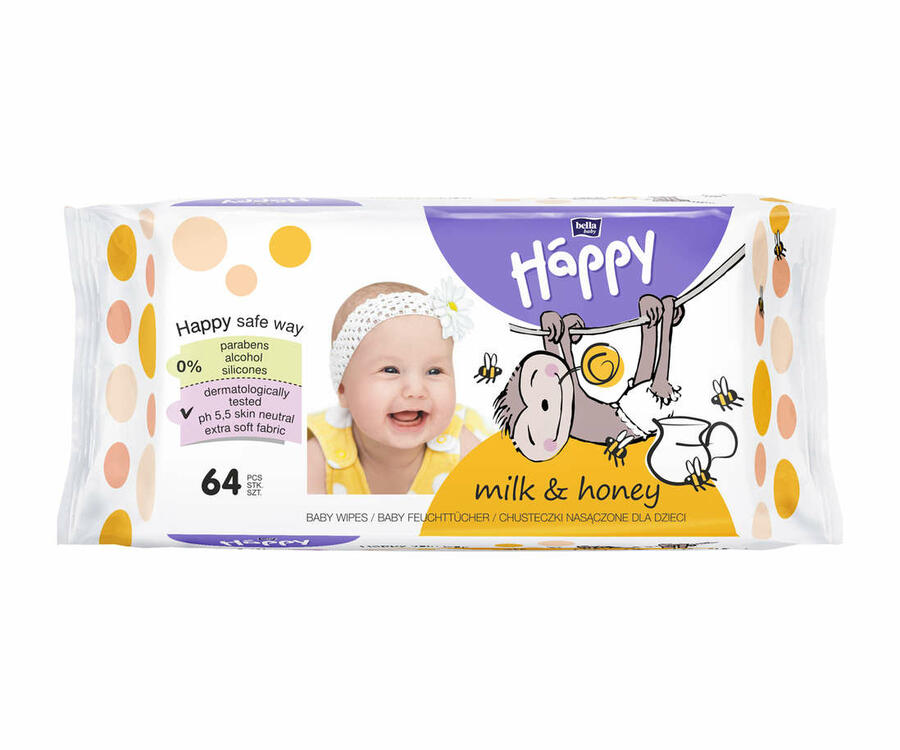 Salviette Milk & Honey - 64 pz