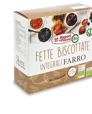 Fette Biscottate Bio Integrali di Farro 300 gr