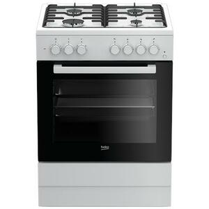BEKO Cucina Elettrica FSE62110DW  4 Fuochi a Gas Forno Elettrico Multifunzione Classe A Dimensioni 60 x 60 cm Colore Bianca