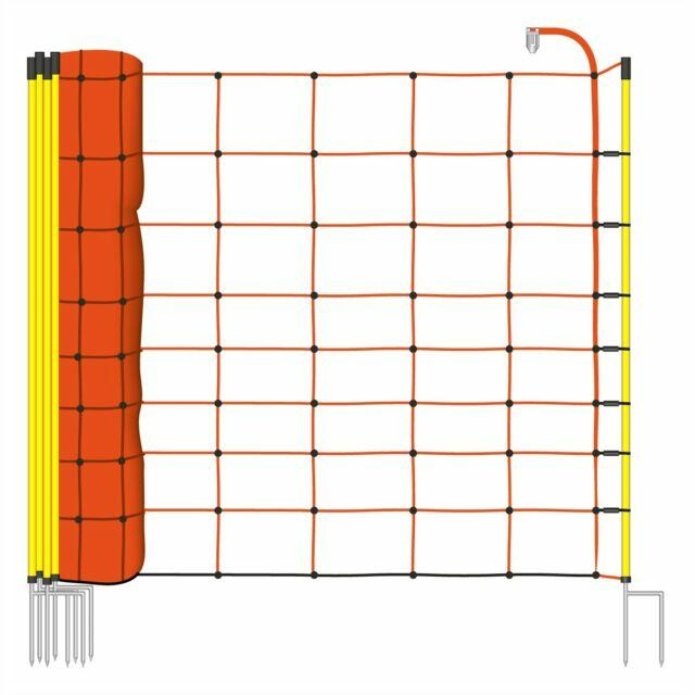 ClassicNet rete per ovini H 90 cm, 14 paletti colore arancione