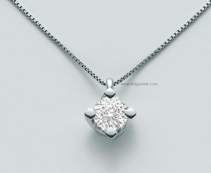 CLD4075 Girocollo con Diamante centrale Miluna -