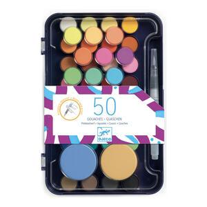 Tavolozza d'artista con 50 colori