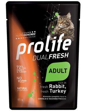 Gatto - Dual Fresh Coniglio e Tacchino 85 gr Prolife