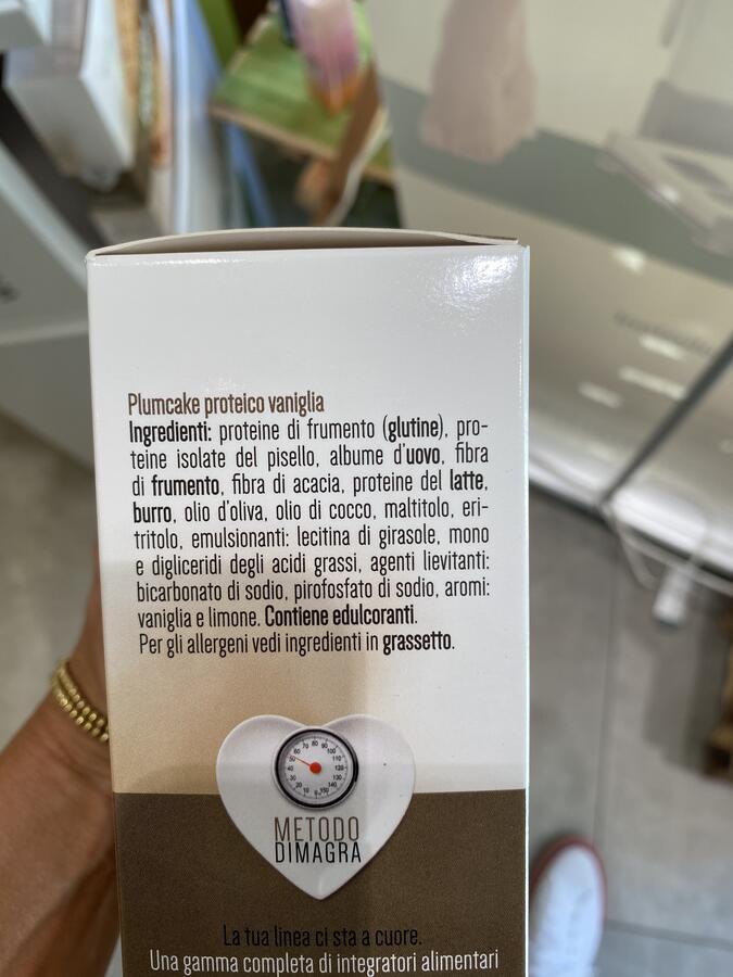Plum cake vaniglia iperproteici