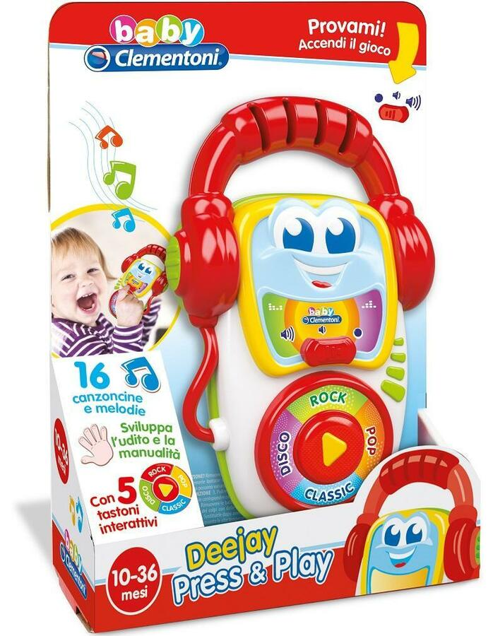 Deejay press & play Gioco sonoro - Clementoni 14982 - 10 + mesi