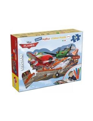 Disney Planes - Color Puzzle Gigante 2in1 - Lisciani 42784 - 3+ anni