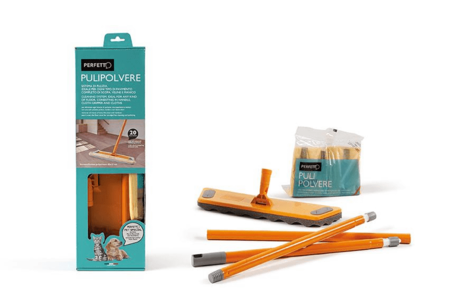 Kit Scopa con Manico 130 cm + 20 Retine PERFETTO