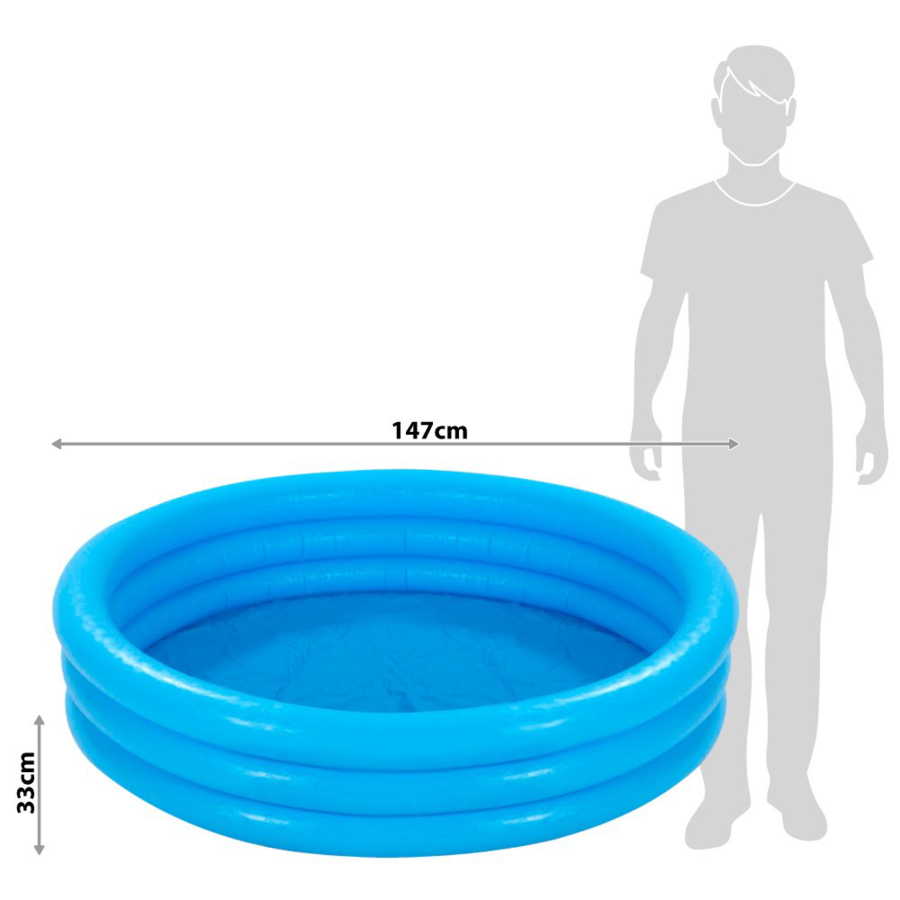 Piscina Crystal 147 x 33 cm - Intex 58426 - Blu