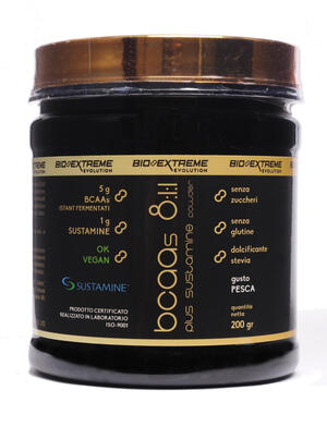 BCAA 8:1:1 + Sustamine - Aminoacidi ramificati con glutamina - 200g