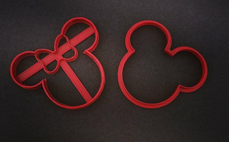 Set 4 pz Stampini Cookie cutter formina topolino e minnie