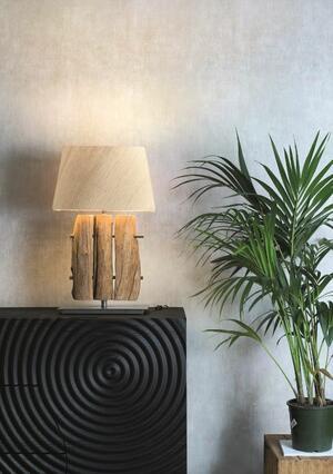 Lampada da Tavolo FENCE di Nature Design con Tronchi di Legno - Offerta di Mondo Luce 24