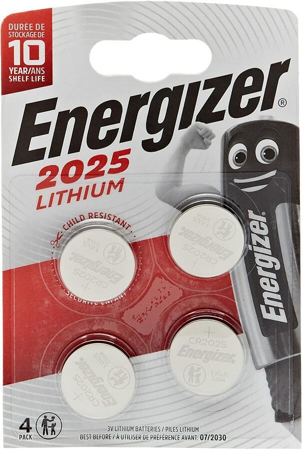 ENERGIZER BATTERIA ALKALINE CR2025 BL 1 SC 10