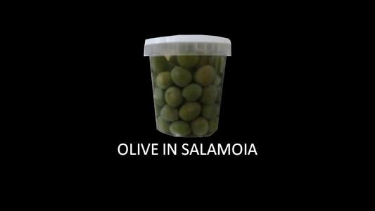 OLIVE SICILIANE VERDI IN SALAMOIA 800GR