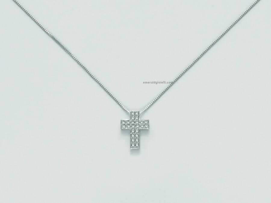 cld3990 Girocollo con Croce e Diamanti Miluna -