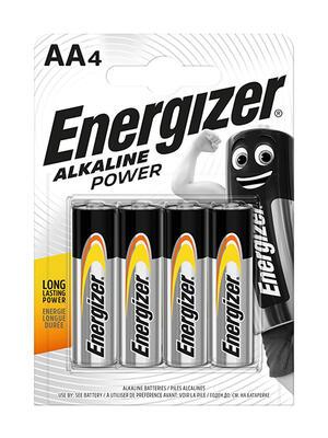 ENERGIZER BATTERIA ALKALINE POWER AA BL 4 SC 24