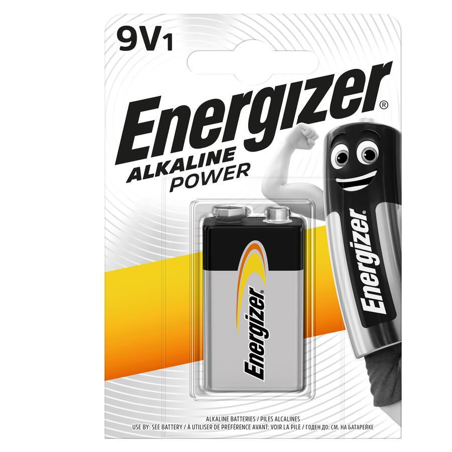 ENERGIZER BATTERIA ALKALINE POWER 9V BL 1 SC 12