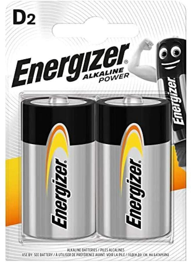 ENERGIZER BATTERIA ALKALINE POWER D BL 2 SC 6