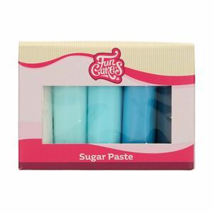 Confezione multipla pasta di zucchero Funcakes colori toni blu